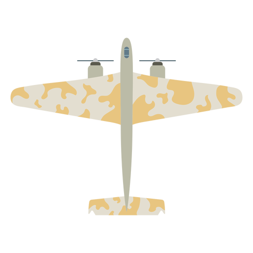 Military aircraft flat icon Transparent PNG