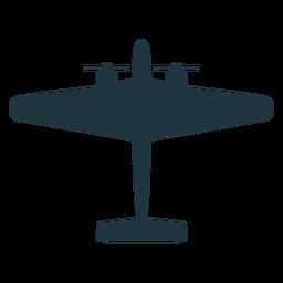 Avión militar silueta plana