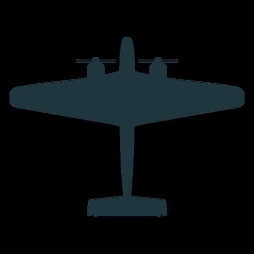 Avión militar silueta plana Transparent PNG