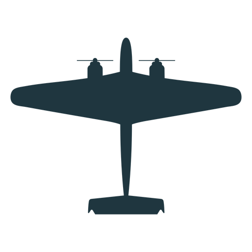 Military aircraft flat silhouette Transparent PNG