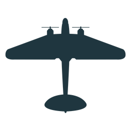 Military aircraft mockup silhouette