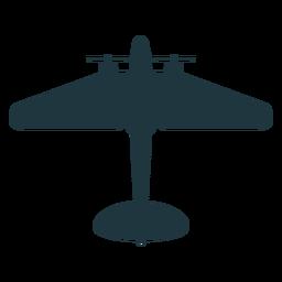 Silhueta de maquete de aeronave militar