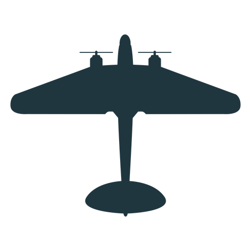 Military aircraft mockup silhouette Transparent PNG