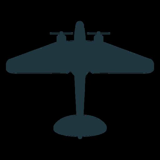 Mockup-Silhouette des Militärflugzeugs