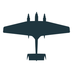 Silhueta de aeronaves militares