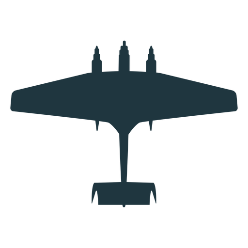 Military aircraft silhouette Transparent PNG