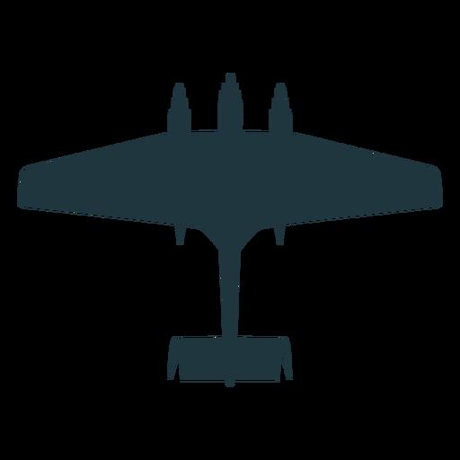 Silueta de avión militar