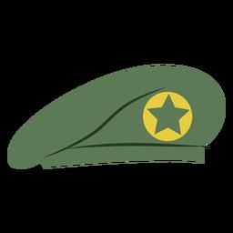 Boné de boina militar com estrela