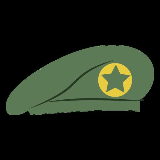 Military beret cap with star Transparent PNG