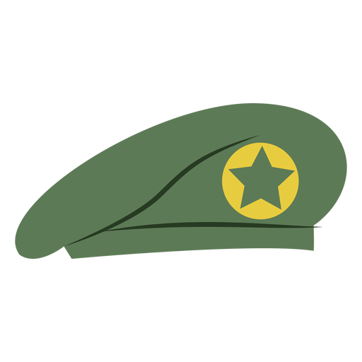 Military beret cap with star