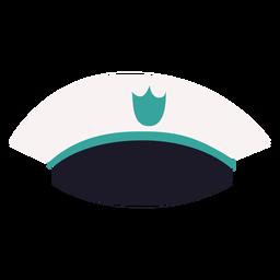 Vista frontal de gorra militar