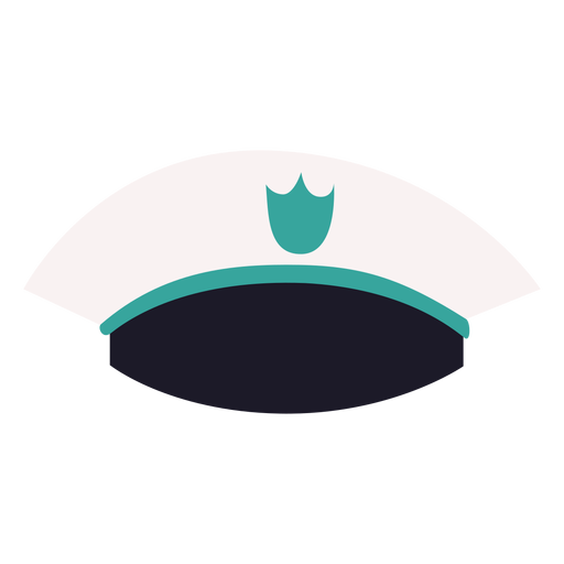 Vista frontal de gorra militar Transparent PNG