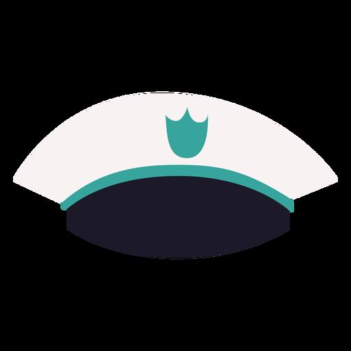 Vista frontal de la gorra militar Transparent PNG