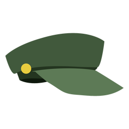 Military cap side view