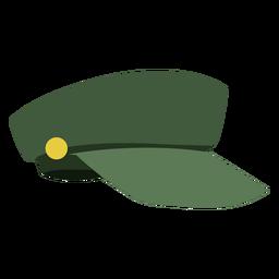 Vista lateral de la gorra militar