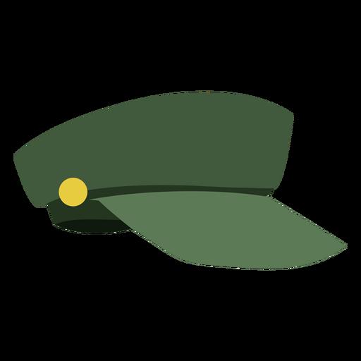 Vista lateral de gorra militar Transparent PNG