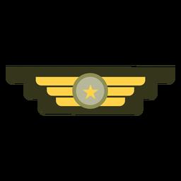 Icono de insignia de rango militar