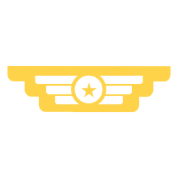 Military rank insignia silhouette
