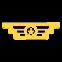 Silueta de insignia de rango militar