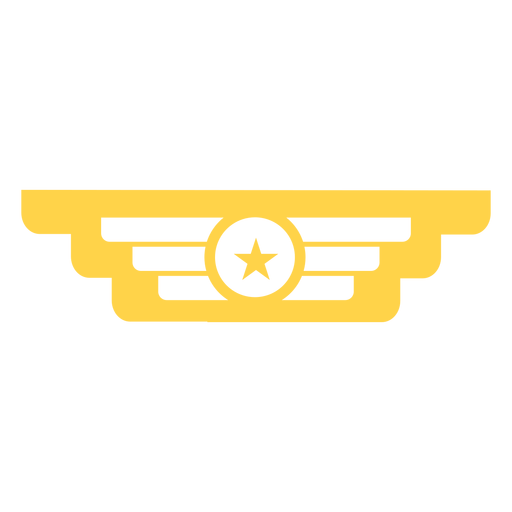 Military rank insignia silhouette