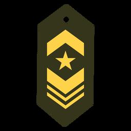 Icono de parche de rango militar