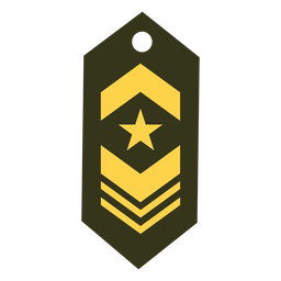 Military rank patch icon