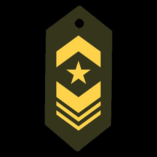 Icono de parche de rango militar Transparent PNG