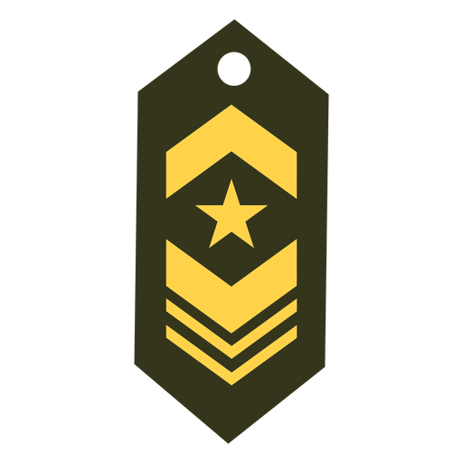 Military rank patch icon Transparent PNG