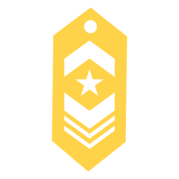 Military rank patch silhouette