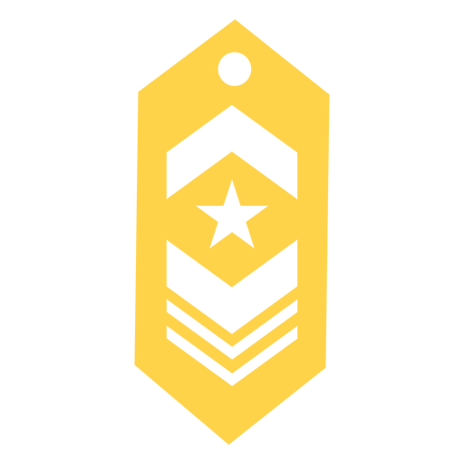 Military rank patch silhouette Transparent PNG