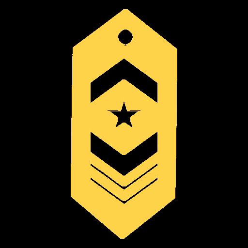 Silueta de parche de rango militar Transparent PNG