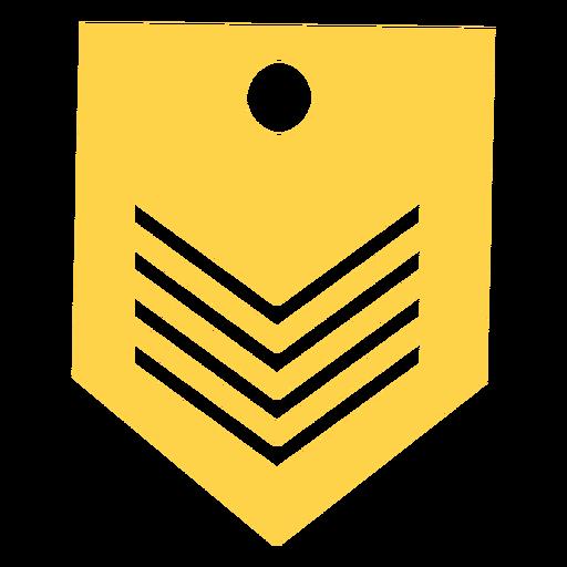 Silueta de rango militar Transparent PNG
