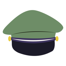 Military service cap rear view