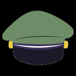 Vista posterior de la tapa del servicio militar