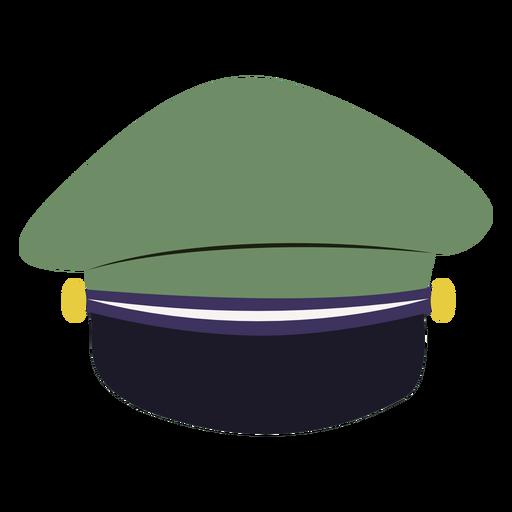 Vista posterior de la tapa del servicio militar Transparent PNG