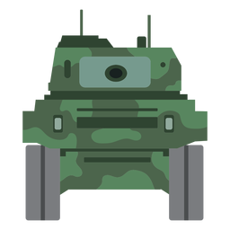 Vista frontal del tanque militar
