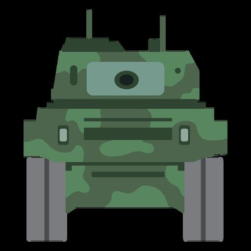 Vista frontal del tanque militar Transparent PNG