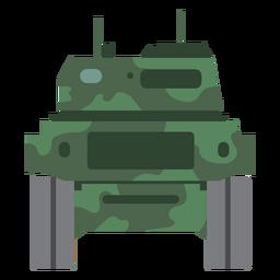 Vista trasera del tanque militar