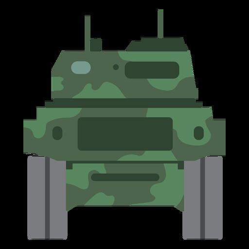 Vista trasera del tanque militar Transparent PNG
