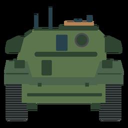 Vista trasera del tanque militar plana
