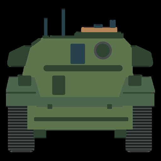 Vista trasera del tanque militar plana Transparent PNG