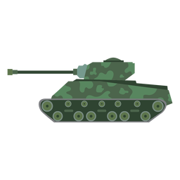 Military tank side view