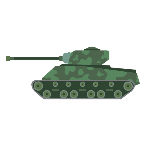 Military tank side view Transparent PNG