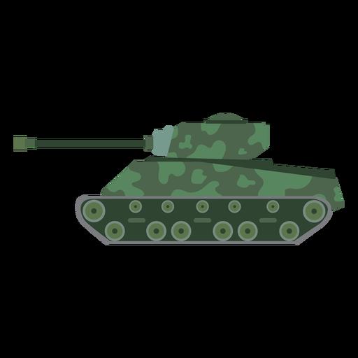 Vista lateral del tanque militar