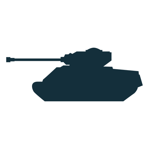 Military tank silhouette military