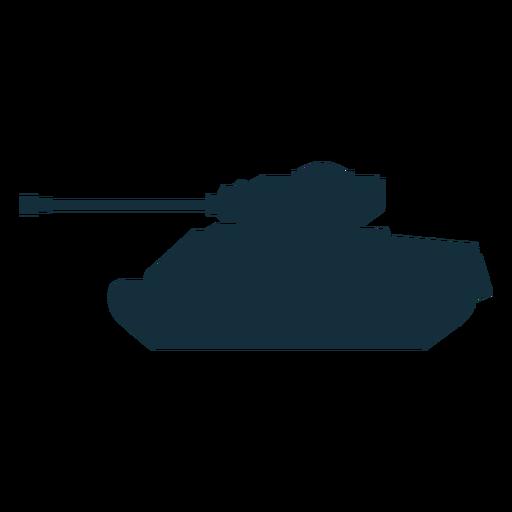 Tanque militar silueta militar