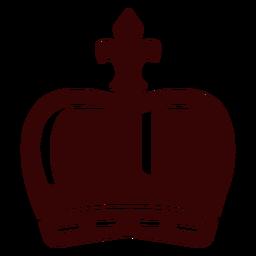 Silueta de corona de monarquía