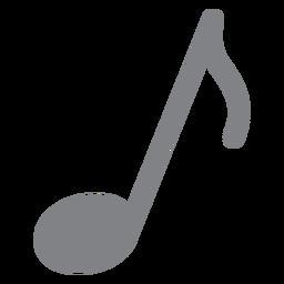 Icono plano de nota musical
