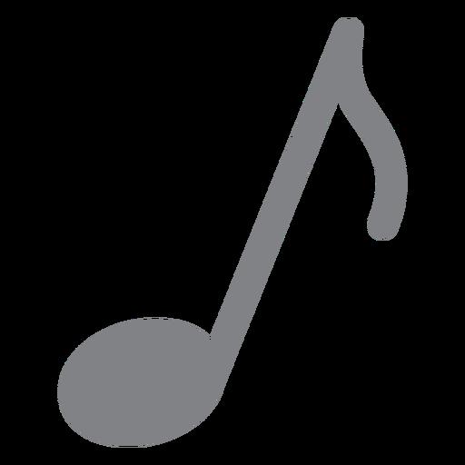 Flache Ikone der Musiknote
