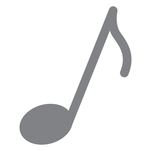 Musical note flat icon